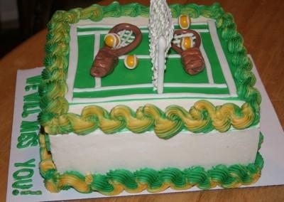 Tennis Cake - Ine's Cakes
